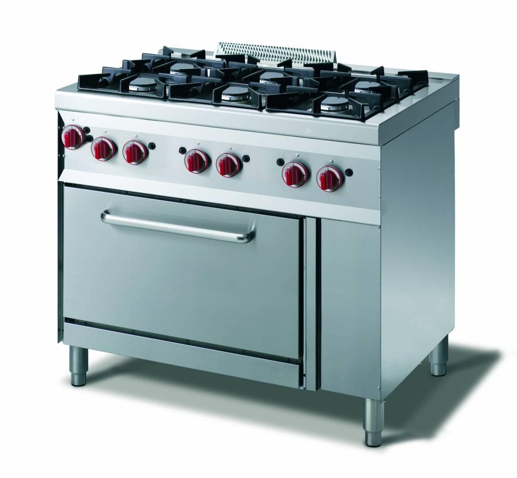 Cucina gas 4 fuochi - forno gas gn 1/1 - vendita online Cucina a Gas