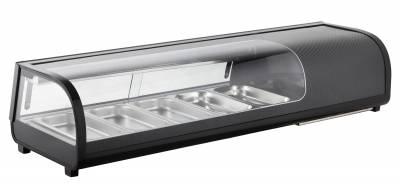 Amitek Espositore refrigerato per Sushi 5 bacinelle AK513VSB