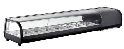 Amitek Espositore refrigerato per Sushi 8 bacinelle AK813VSB