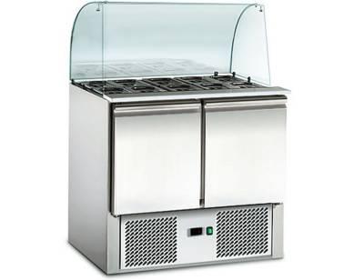 Amitek Saladette refrigerate statiche con vetri curvo - AK900G