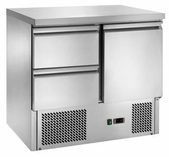 Amitek Saladette refrigerate statiche con 2 cassetti - AK901-2D