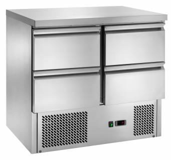 Amitek Saladette refrigerate statiche con 4 cassetti - AK901-4D