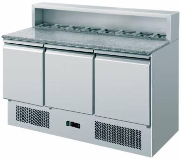 Amitek Saladette refrigerate statiche pizzeria 8 x GN1/6 - Amitek - AK903P