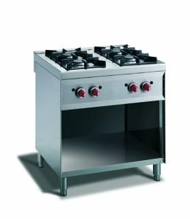 CookTek Cucina gas 4 fuochi con vano a giorno