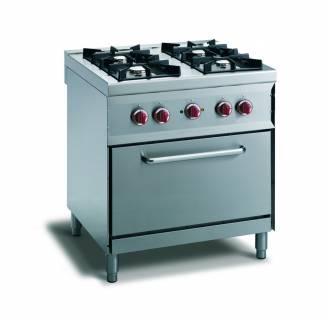 CookTek Cucina gas 4 fuochi fiamma pilota - forno convezione elettrico gn 1/1
