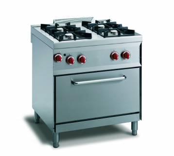 CookTek Cucina gas 4 fuochi fiamma pilota - forno gas gn 1/1