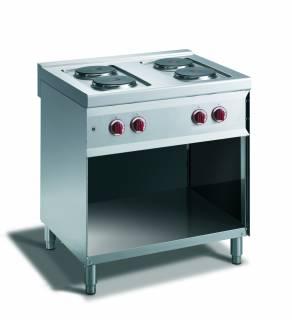 CookTek Cucina elettrica 4 piastre vano a giorno