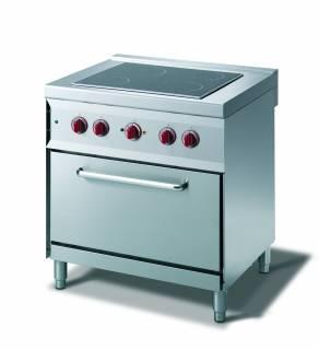 CookTek Cucina elettrica vetroceramica 4 piastre forno convezione elettrico gn 1/1