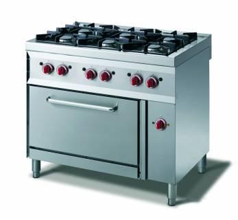CookTek Cucina gas 6 fuochi - forno convezione elettrico gn 1/1