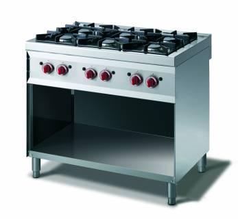 CookTek Cucina gas 6 fuochi con vano a giorno