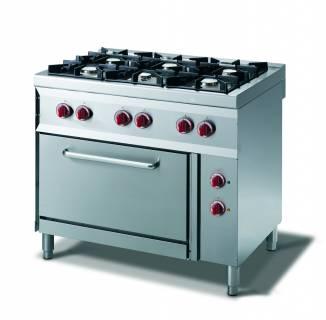 CookTek Cucina gas 6 fuochi fiamma pilota - forno elettrico gn 2/1