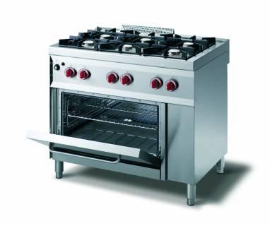 CookTek Cucina gas 6 fuochi fiamma pilota - forno gas gn 2/1