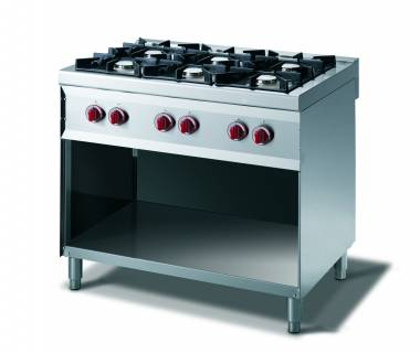 CookTek Cucina gas 6 fuochi fiamma pilota - vano a giorno