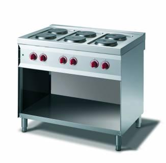 CookTek Cucina elettrica 6 piastre vano a giorno