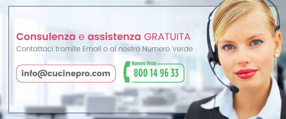Consulenza e assistenza gratuita tramite email o al nostro numero verde