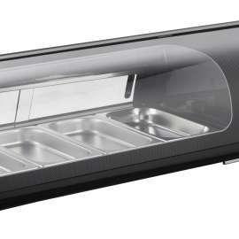 Amitek Espositore refrigerato per Sushi 4 bacinelle AK413VSB
