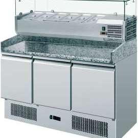 Amitek Saladette refrigerate statiche pizzeria 6 x GN1/4 - Amitek - AK903P33