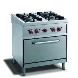 CookTek Cucina gas 4 fuochi - forno convezione elettrico gn 1/1