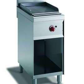 CookTek Fry top gas piastra rigata