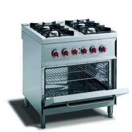 CookTek Cucina gas 4 fuochi fiamma pilota - forno elettrico gn 2/1