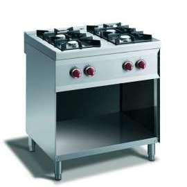 CookTek Cucina gas 4 fuochi fiamma pilota - vano a giorno