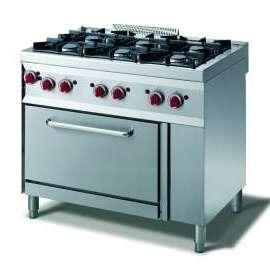 CookTek Cucina gas 4 fuochi - forno gas gn 1/1