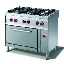 CookTek Cucina gas 6 fuochi fiamma pilota - forno convezione elettrico gn 1/1