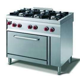 CookTek Cucina gas 6 fuochi fiamma pilota - forno gas gn 1/1